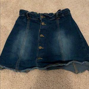 Crazy 8 button up denim skirt